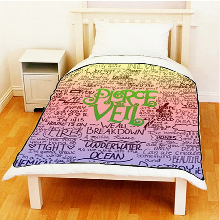 """New Hot Pierce The Veil Hardcore Band Throw Fleece Blanket size 60"""" X 80"""" #1 #Unbranded #Custom   Awesome i want this!"""