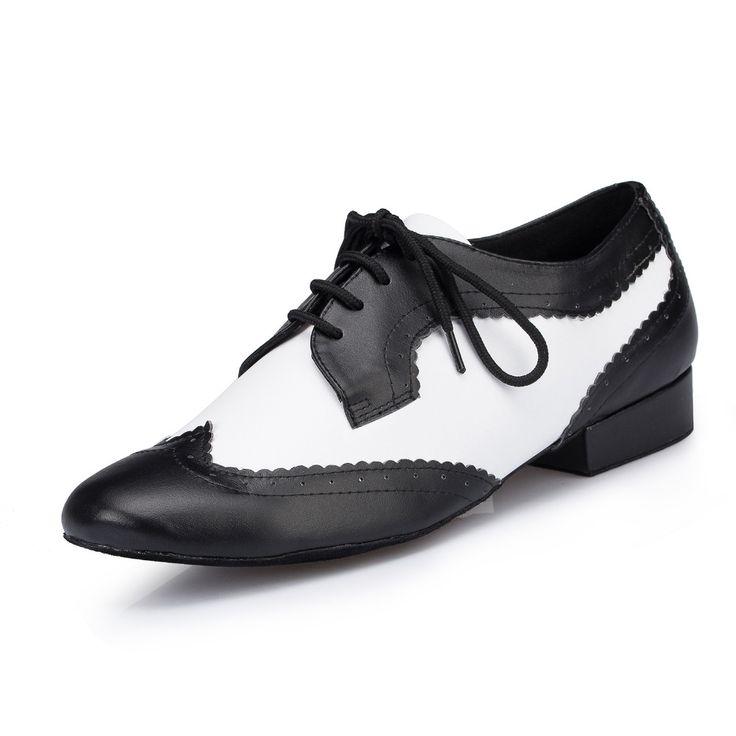 59.98$  Buy now - http://ali5by.worldwells.pw/go.php?t=32727087665 - 2016 Nieuwe Mode Mannelijke Heldere lederen Latin dansschoenen 4.5 cm Moderne 2.5 cm dansschoenen koeienhuid ballroom schoenen