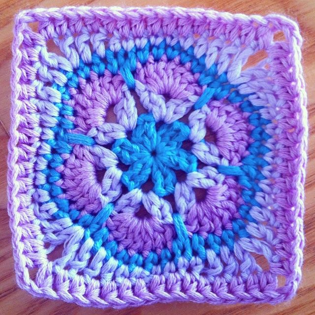 How To Square Off A Six Petal African Flower Crochet