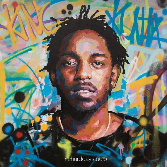 Kendrick Lamar King Kunta Backround Original Painting