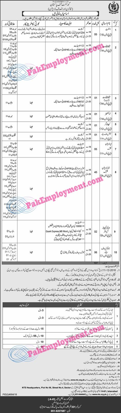 Title Of   Job          Detail of   Job              Name Of Job          Department of Law & Justice   Pakistan       ...