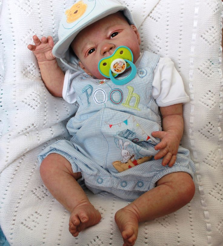 Beautiful Reborn Baby Boy Doll - Beau by Jannie De Lange in Dolls & Bears, Dolls, Reborn