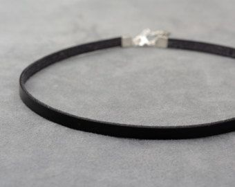 Sexy Black Choker Simple Leather Choker Necklace by Jewelshart