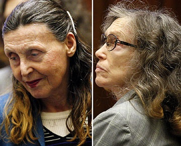 Helen Golay (on the right) and Olga Rutterschmidt worked a scheme where they found homeless men, gave them housing and an allowance while taking out multiple life insurance plans on the man.  Once enough time had passed, they drugged the man and ran him over, making him look like the victim of a hit and  run.  Only when a brilliant insurance investigator followed through on investigating the policy were the women tripped up and their scheme revealed. Who knows how long they'd been working…