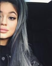 Silver keeps popping up on celebs—Kelly Osbourne and Dascha Polanco (of Orange is the New Black) have recently dabbled in grays and silvers, and now Kylie Jenner has transformed her onyx locks by transitioning to a edgy, silver-gray ombre.  GET THE COLOR: SILVER-GRAY OMBRE Formula 1: Pravana Pure Light Power Lightener with choice of developer Formula 2: Pravana VIVIDS Silver