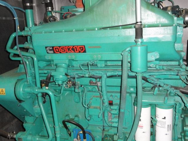 334 kW Cummins QSK19 Natural Gas Generator- CHP Plant Unit #: 82042014 - Just in - Additional information coming soon! 2 Available  Manufacturer: Cummins  Fuel Type: Natural Gas / LP  Rating: 334 kW  Hours: 10,xxx & 12,xxx  Voltage: 277/480V  Amps: 502  Hertz: 60  RPM: 1800  Phase: 3  Leads: 12  Generator Model #: 334GFBA  Engine Model #: GQTA19-G3  Year: 2004