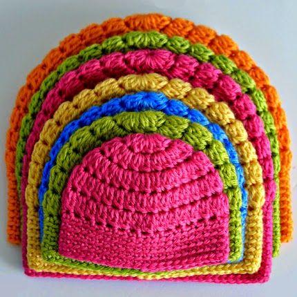 Crochet For Children: Free Basic Beanie Crochet Pattern All Sizes