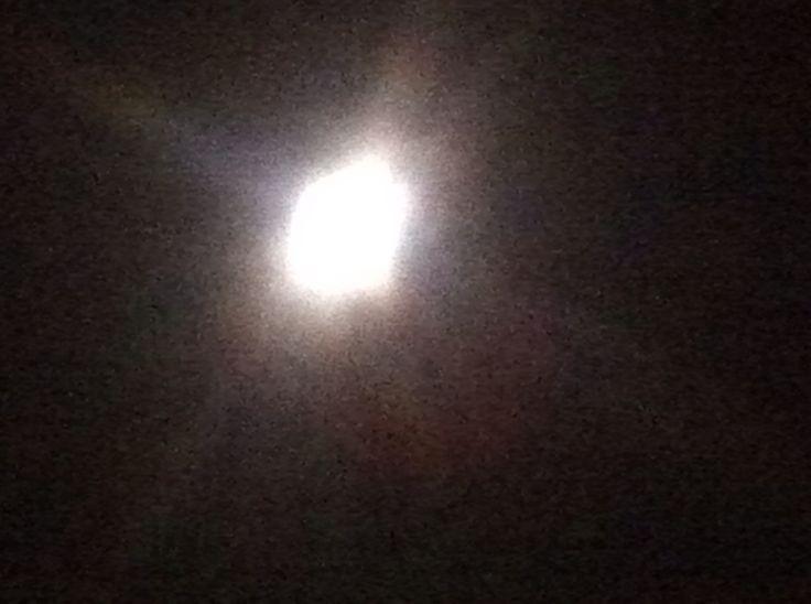 Full moon at night no flash