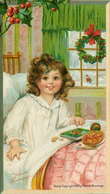 1910 Frances Brundage Christmas Postcard