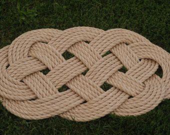 3 alfombras de cuerda náutica por OYKNOT en Etsy