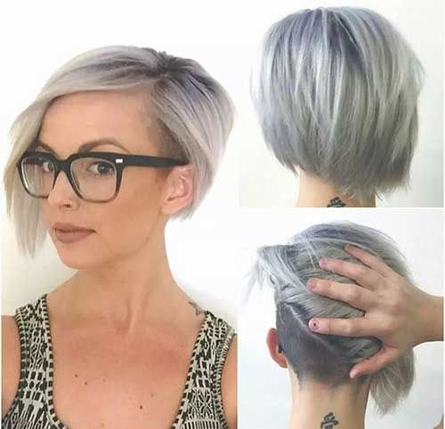 14 Brief Hairstyles For Grey Hair