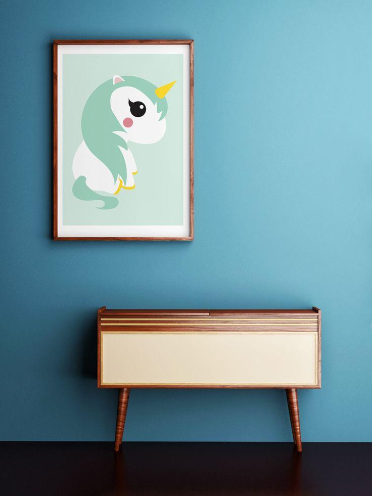 Poster Eenhoorn mint Poster eenhoorn staat geweldig in elke hippe kinder- of woonkamer. Ook leuk om kado te doen of om zelf te gebruiken! Zo creëer je een nieuwe look in ...