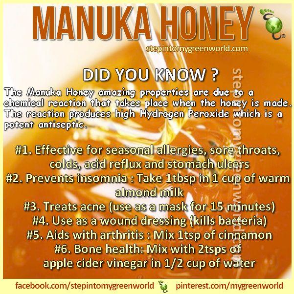 Manuka Honey Honey And Benefits Of On Pinterest