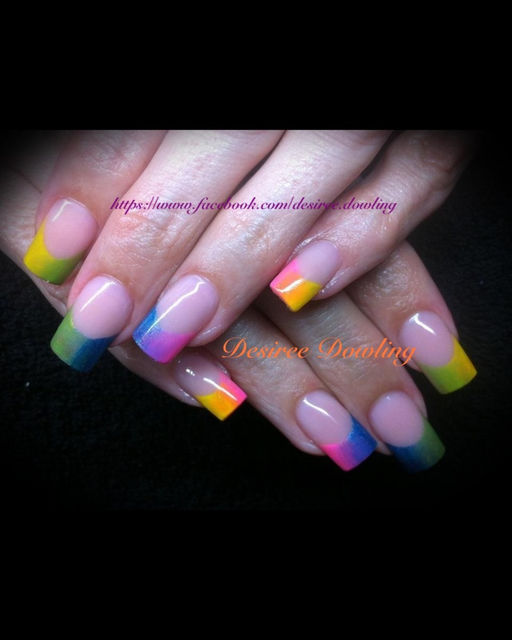 Rainbow free edge. ONS One Gel Paint.