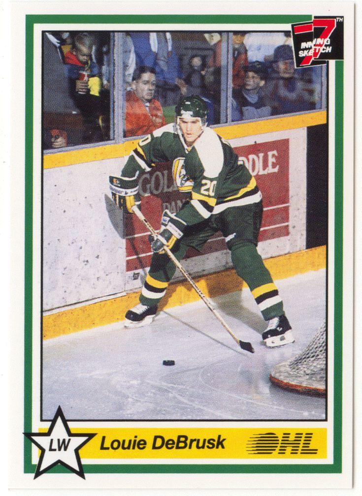 Louie DeBrusk # 132 - 1990-91 7th Inning Sketch OHL Hockey