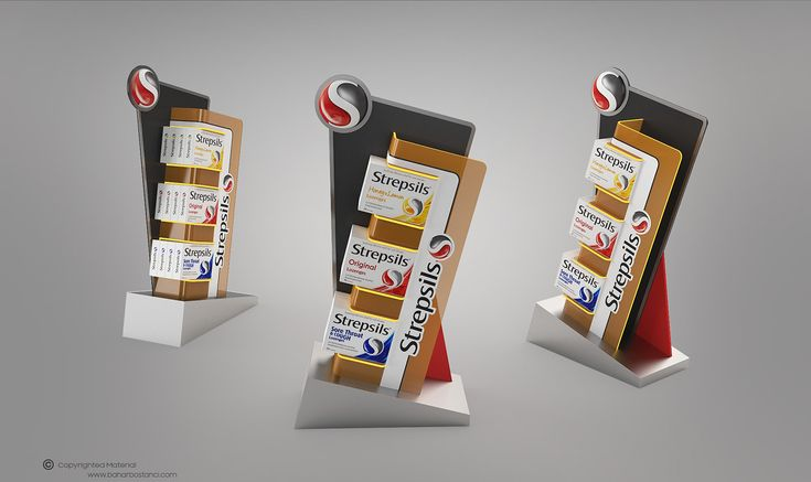 Strepsils Counter Display Design on Behance