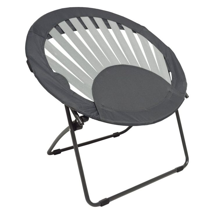Impact Canopy Sunrise Round Kids Bungee Chair Gray - 460030013