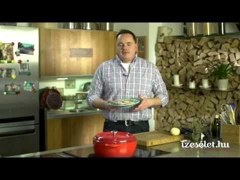 Konflitált kacsacomb tepsis zöldségekkel, pecsenyelével