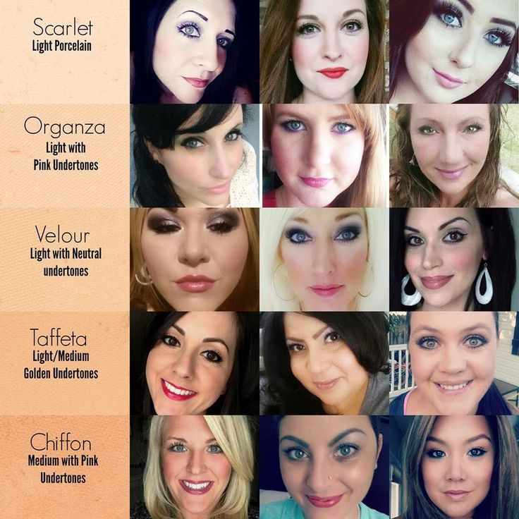Younique Foundation Color Chart Light shades. https://www.youniqueproducts.com/crystalvera