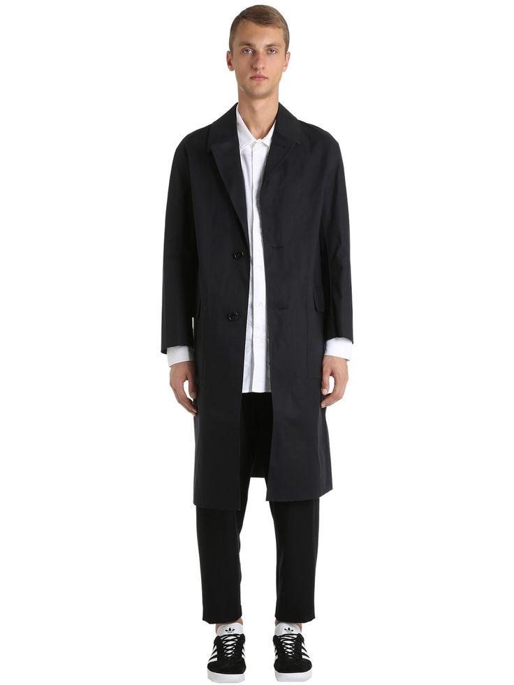 MACKINTOSH OVERSIZED RUBBERIZED COTTON COAT. #mackintosh #cloth #