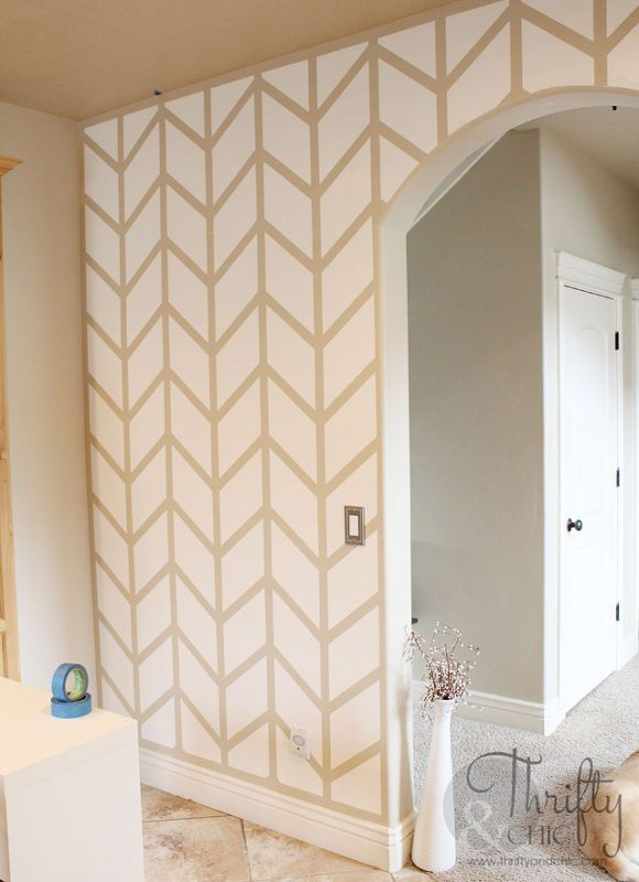Herringbone Pattern Accent Wall Diy Home Decor How To Kitchen