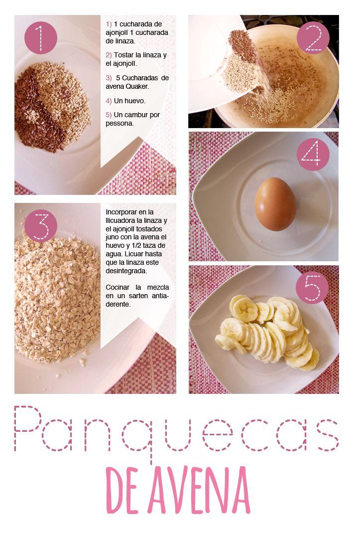 Panquecas de avena / healthy food