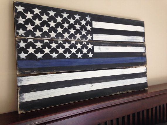 Thin Blue Line Flag Police Sign Law Enforcement