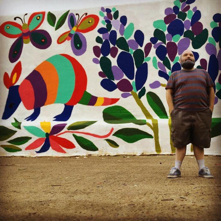 Chillin' with the 'dillos. Like ya do. #laredo #art #mural #armadillo #bluebonnets #texas #lonestarstate #texasproud #thestarsatnightarebigandbright #3dprinting #tinycory by fileatinyreport
