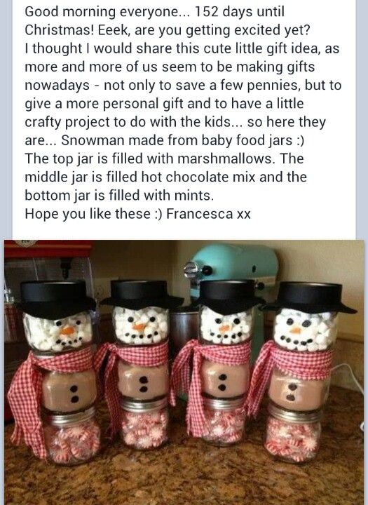 Snowman hot chocolate kit