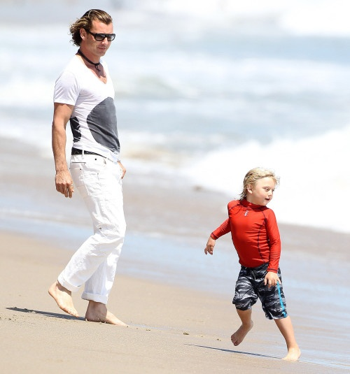 Gavin Rossdale Takes His Boys To The Joel Silver Memorial Day Party
