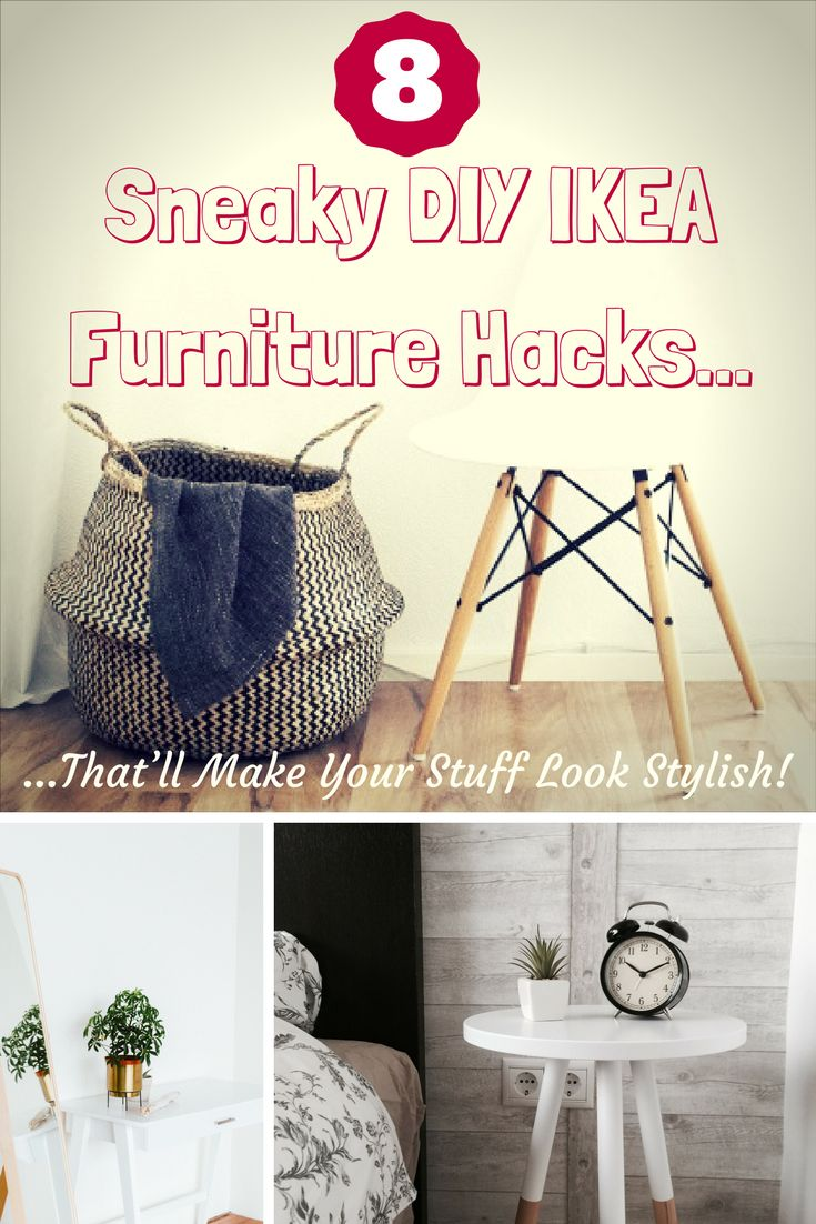 If you want to learn how to turn those off-the-assembly-line pieces into a one-of-a-kind unit, then check out these 8 brilliant DIY IKEA furniture hacks! || ikea hack living room small spaces || https://withnaturalgusto.com/8-sneaky-diy-ikea-furniture-hacks/