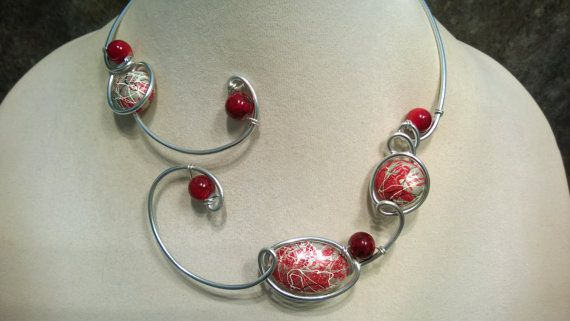 FREE GIFT  Free earrings Wire wrapped necklace Modern