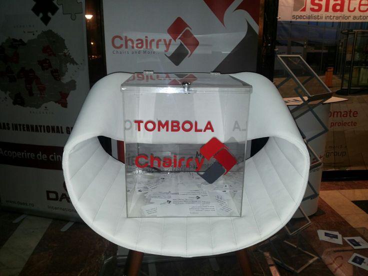 Tombola Chairry pentru #BNA2014 continuă până pe 30 Octombrie! Haideți, curaj, avem un scaun de birou minunat pentru câștigător! :)