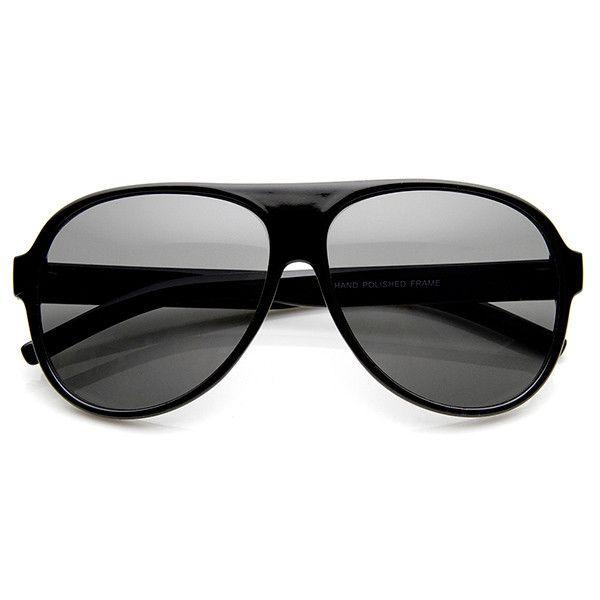 Retro 1980's Hipster Large Men's Aviator Sunglasses 9113
