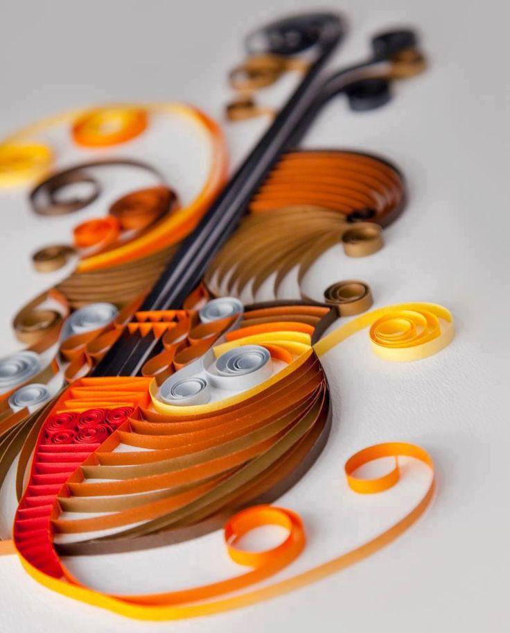 Paper art violin