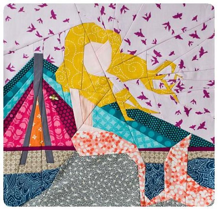 The Warsaw Mermaid paper piecing pattern | Craftsy