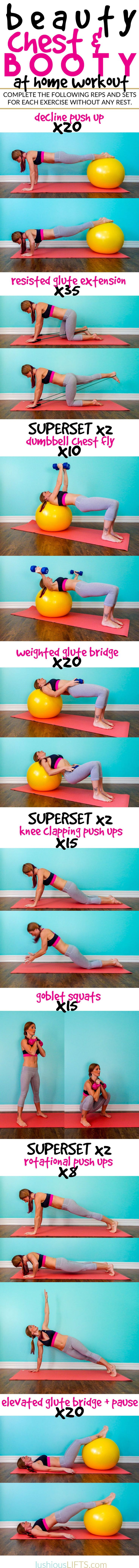112 Best Fitness Images On Pinterest Circuit Workouts Exercises Chest And Back Superset Workout Tone Tighten Beauty Booty At Home Lushiousliftscom