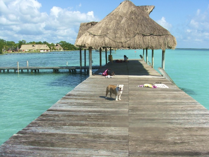perfect spot for a princess - #Bacalar #lagoon #Mexico