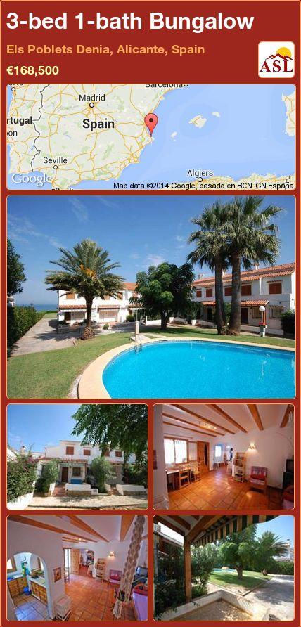 3-bed 1-bath Bungalow in Els Poblets Denia, Alicante, Spain ►€168,500 #PropertyForSaleInSpain