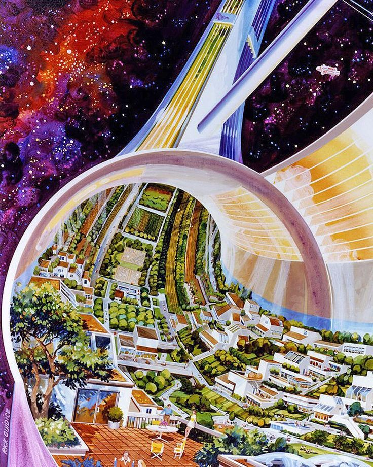 Perspective From Inside A Proposed Stanford Torus (1975