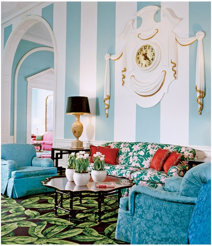 Colorful mix - Dorothy Draper at the Greenbrier