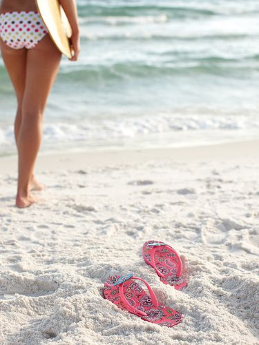 Flip flops, surf board, print, the ocean...A glimpse into my future.