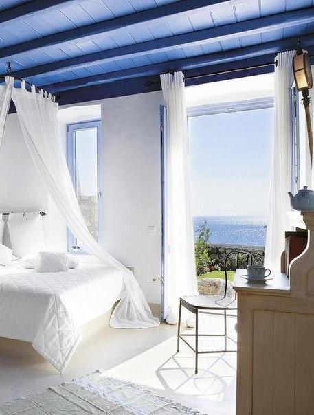 Greek style bedroom homes pinterest good night blue for Greek style home decor