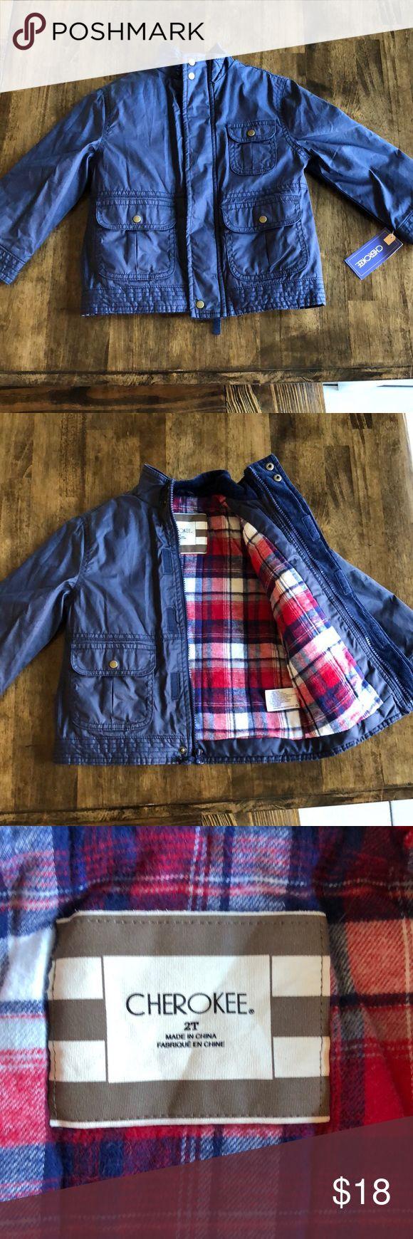 NWT Boys wind and water resistant coat Adorable coat! Fits bigger then a 2t Jackets & Coats