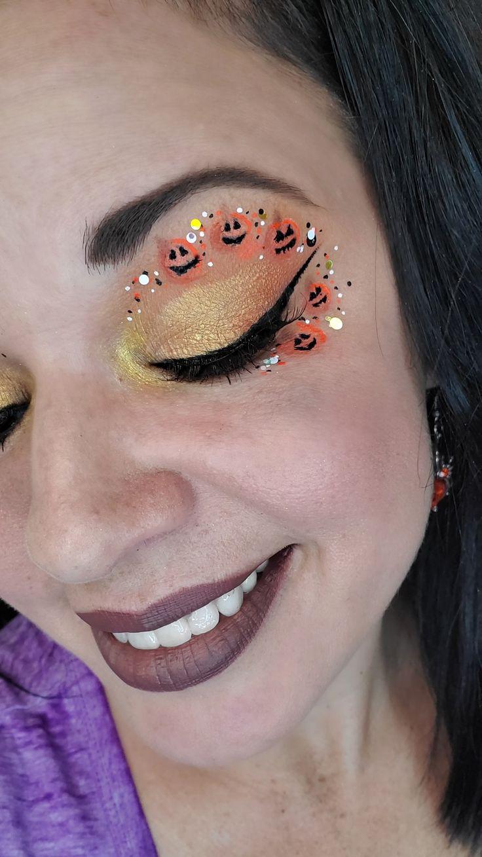 Pumpkin makeup fun and cute halloween halloweenmakeup