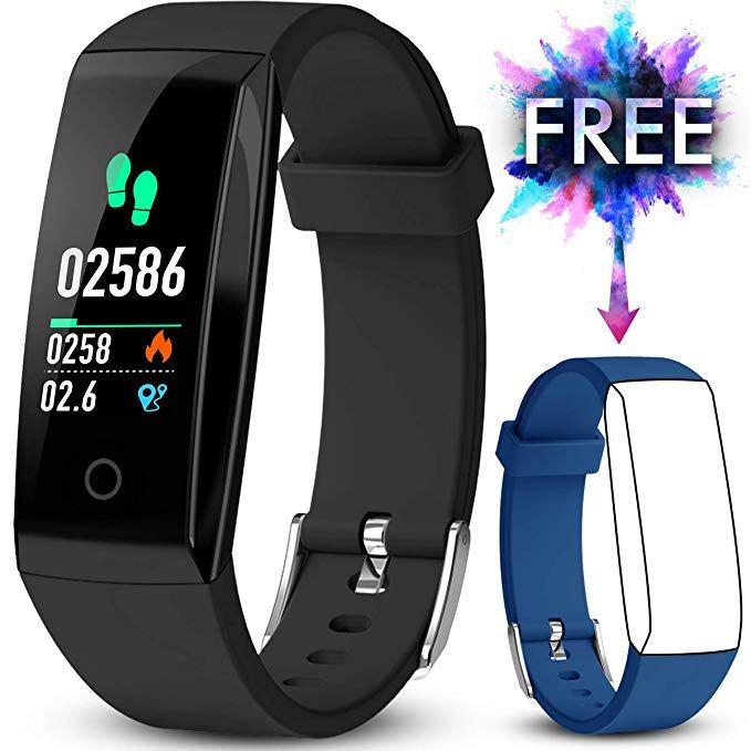 Jazipo Fitness Armband Mit Pulsmesser Fitness Tracker Wasserdicht Ip67 Blutdruckmesser Farbbildschirm Mit Gps Aktiv Fitness Armband Fitness Tracker Smartwatch