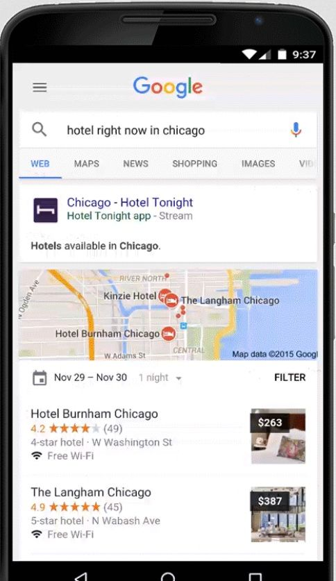 The search giant is experimenting with tech that lets you use apps without downloading them. It's part of Google's plan to keep its crown when it comes to mobile search.