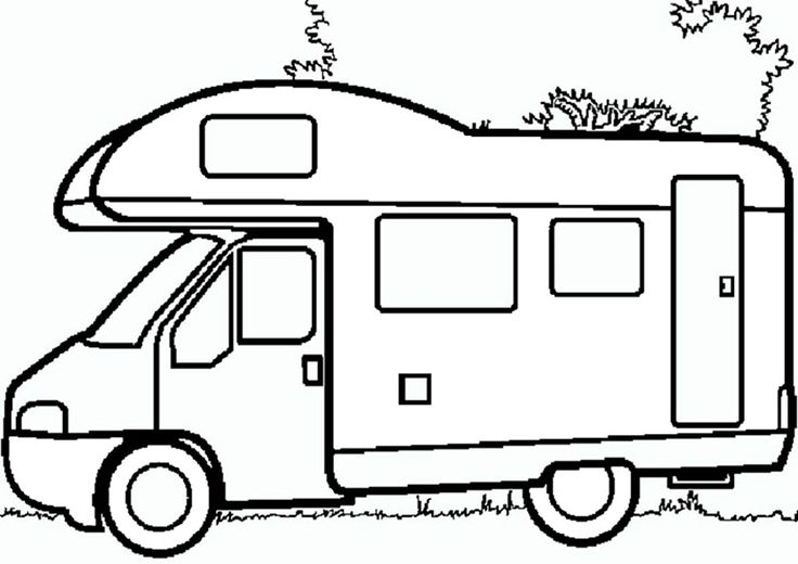ausmalbilder auto lkw in 2020  camping coloring pages