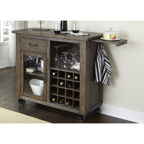 Franklin Rustic Brown And Metal Wine Cabinet Awood Stuff