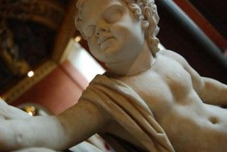 A statue of Britannicus, son of the Roman emperor Claudius.